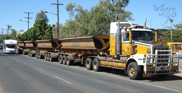 Road train Outback - Where we go