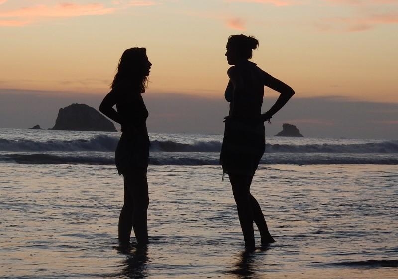 'S avonds op het strand van Zipolite, Mexico - Where we go