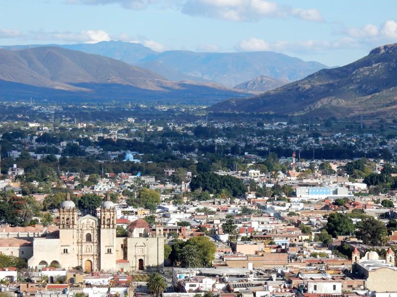 Uitzicht over Oaxaca