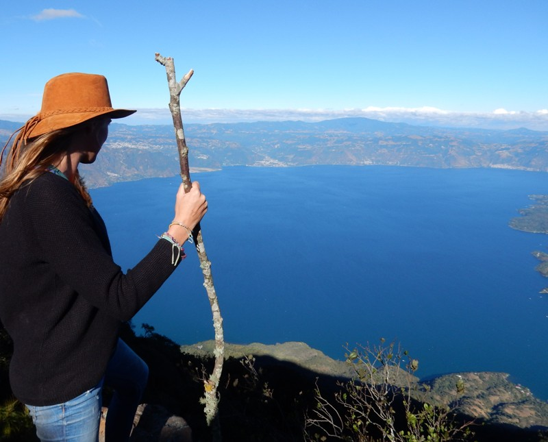 Uitzicht vanaf vulkaan San Pedro in Guatemala - Where we go