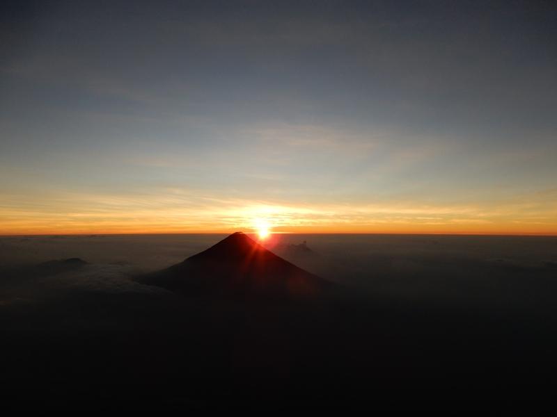 Top vulkaan Acatenango
