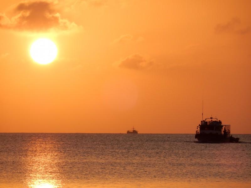 zonsondergang corn island