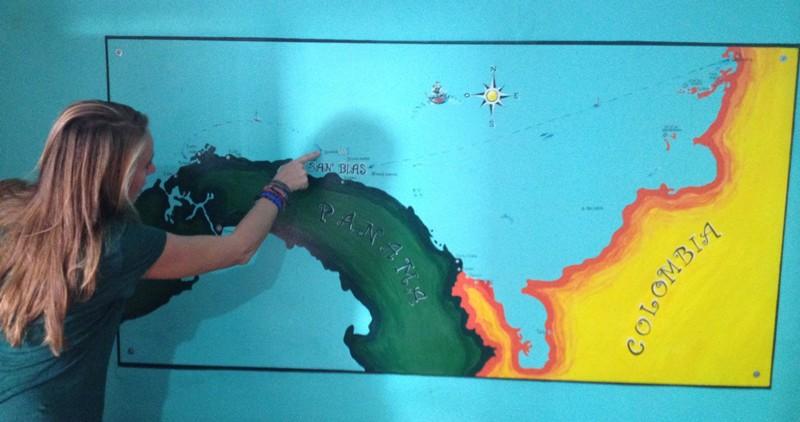 Kaart zeiltocht San Blas