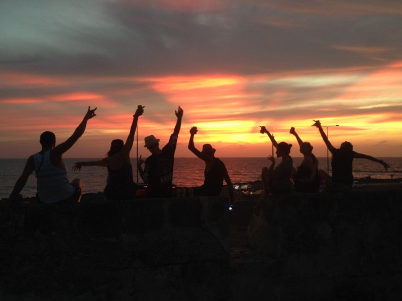 Zonsondergang Cartagena